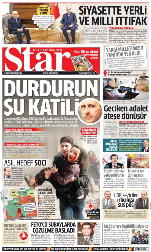 STAR - 11 Ocak 2018