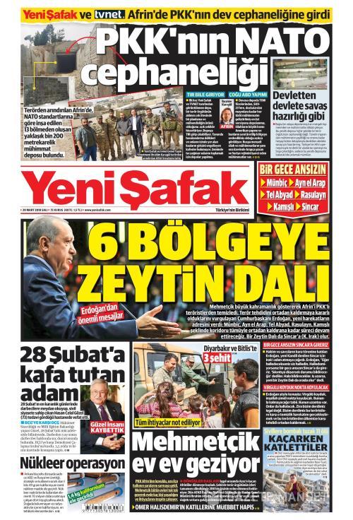 YENİ ŞAFAK - 20 Mart 2018