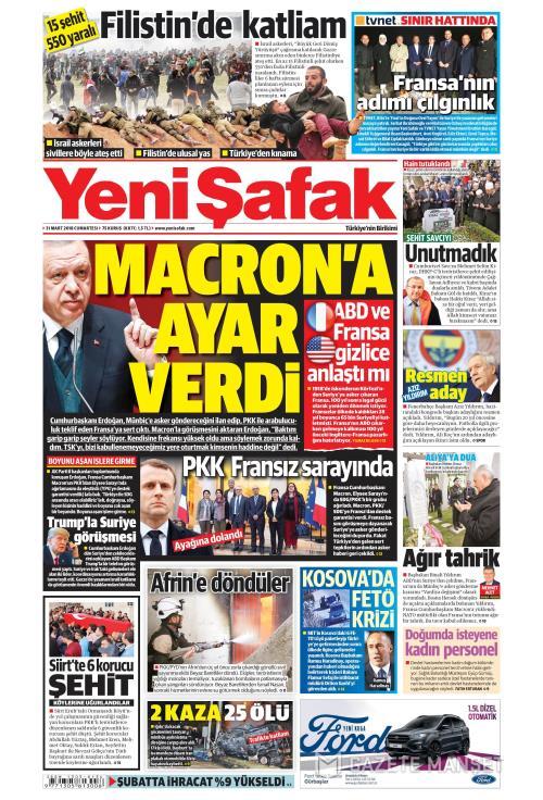 YENİ ŞAFAK - 31 Mart 2018