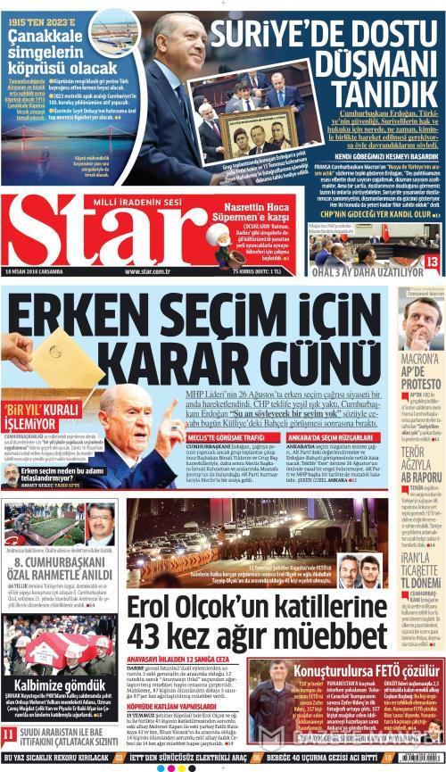 STAR - 18 Nisan 2018