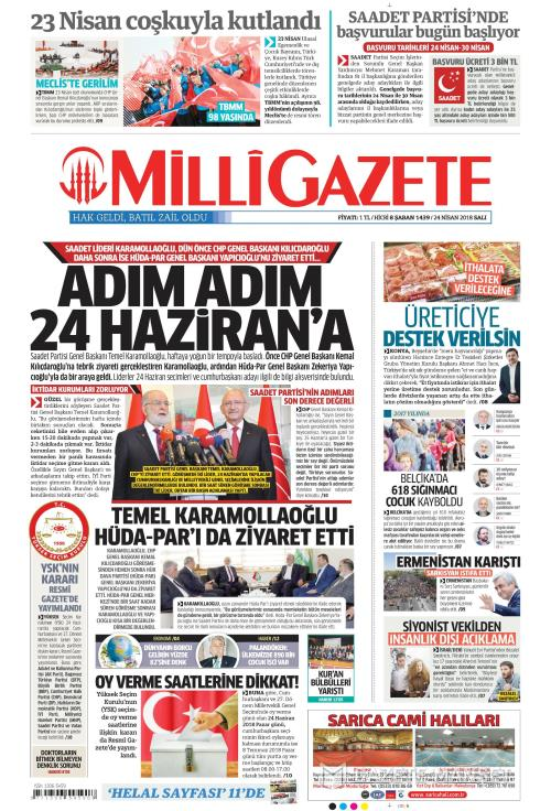 MİLLİ GAZETE - 24 Nisan 2018