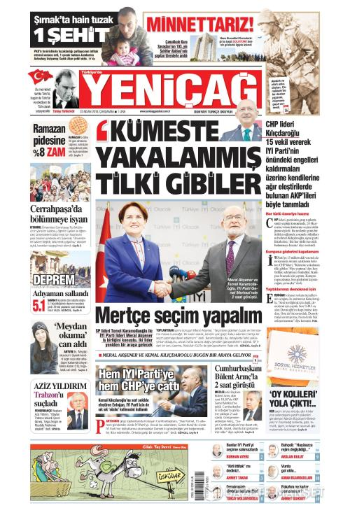 Türkiye'de Yeni Çağ - 25 Nisan 2018