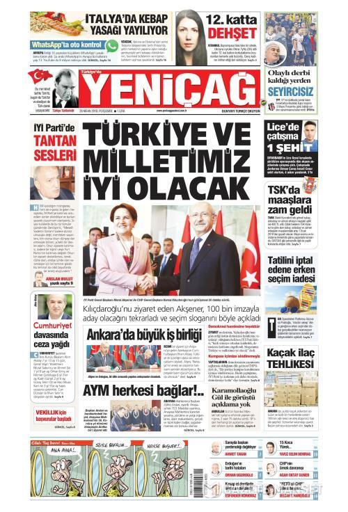 Türkiye'de Yeni Çağ - 26 Nisan 2018