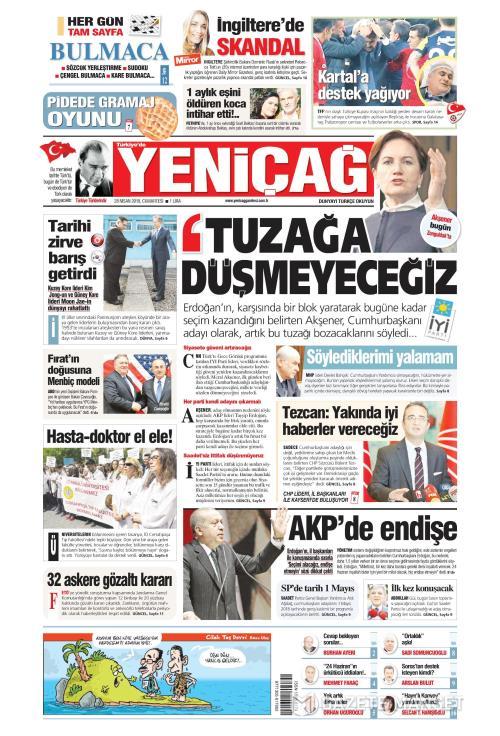 Türkiye'de Yeni Çağ - 28 Nisan 2018