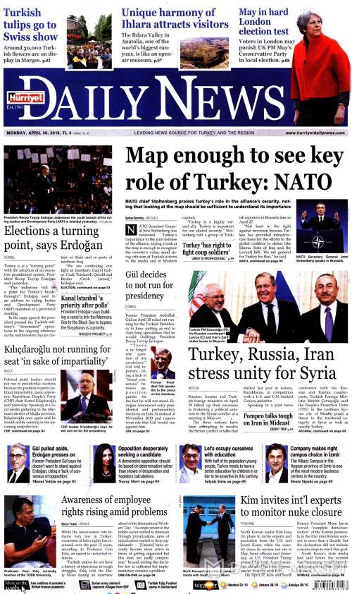 HÜRRİYET DAİLY NEWS - 30 Nisan 2018