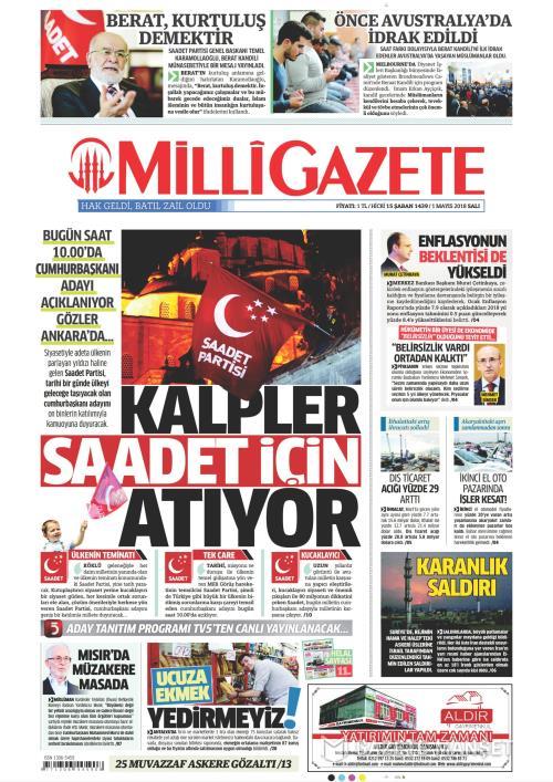 MİLLİ GAZETE - 01 Mayıs 2018