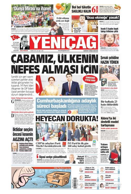 Türkiye'de Yeni Çağ - 01 Mayıs 2018