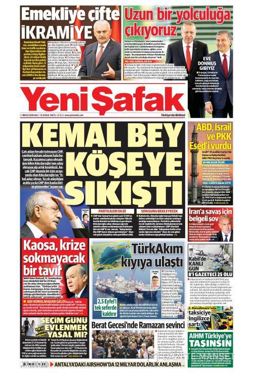 YENİ ŞAFAK - 01 Mayıs 2018