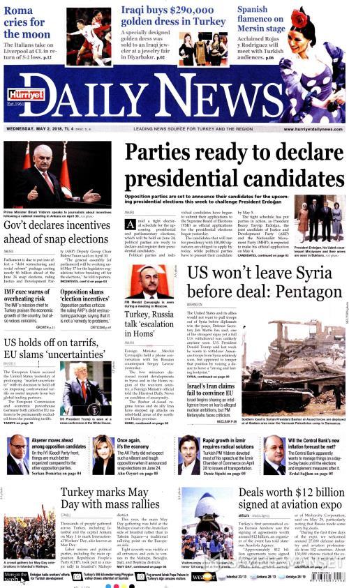 HÜRRİYET DAİLY NEWS - 02 Mayıs 2018