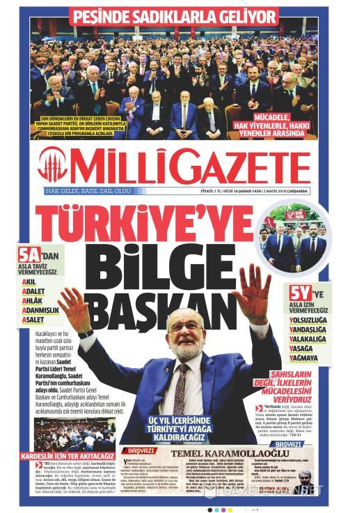 MİLLİ GAZETE - 02 Mayıs 2018