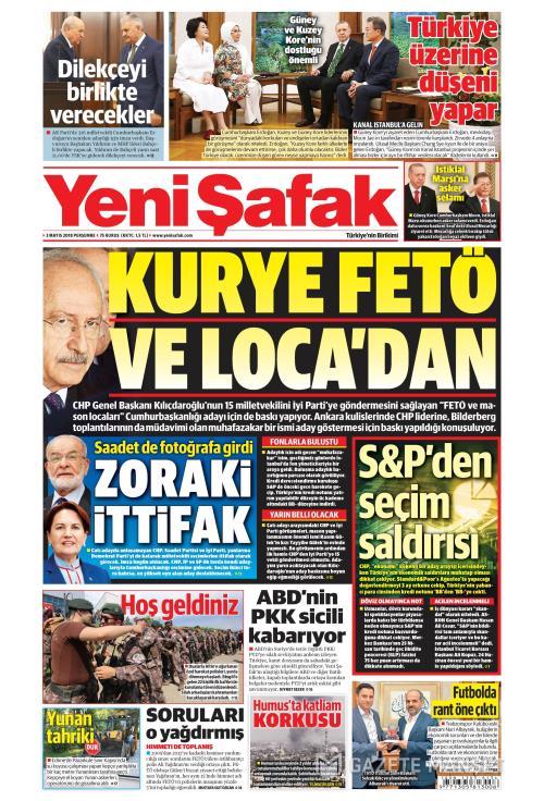 YENİ ŞAFAK - 03 Mayıs 2018