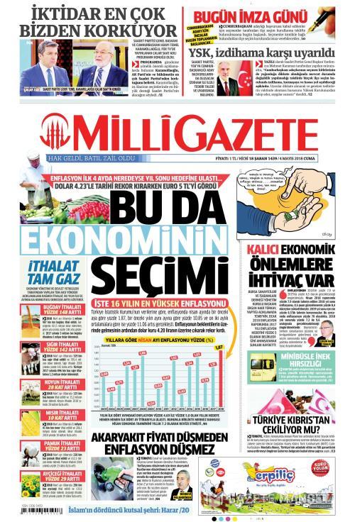 MİLLİ GAZETE - 04 Mayıs 2018