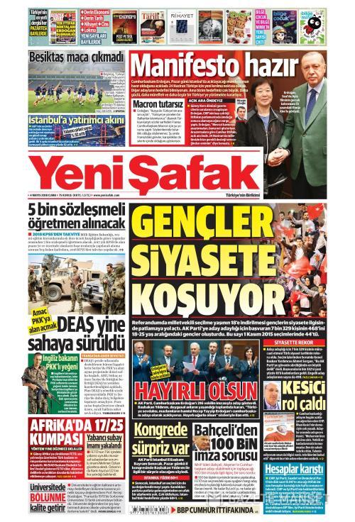 YENİ ŞAFAK - 04 Mayıs 2018