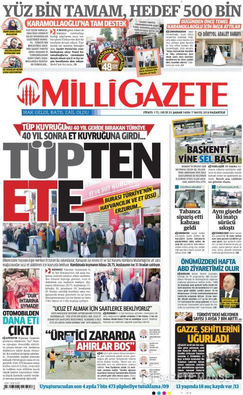 MİLLİ GAZETE - 07 Mayıs 2018