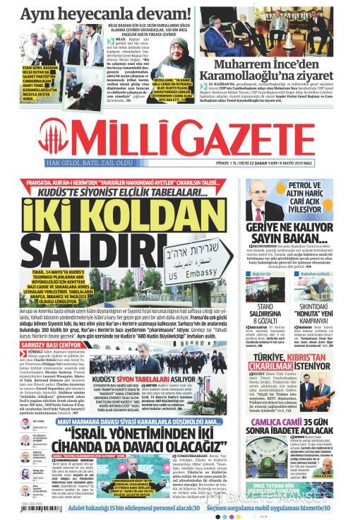 MİLLİ GAZETE - 08 Mayıs 2018