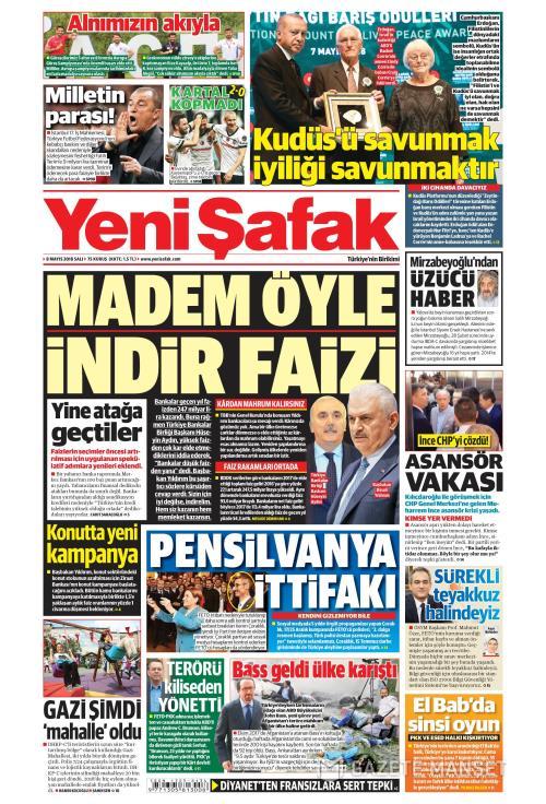 YENİ ŞAFAK - 08 Mayıs 2018