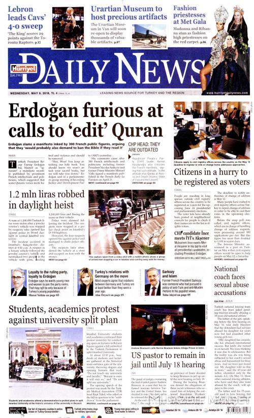 HÜRRİYET DAİLY NEWS - 09 Mayıs 2018