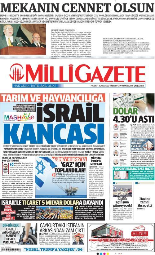 MİLLİ GAZETE - 09 Mayıs 2018