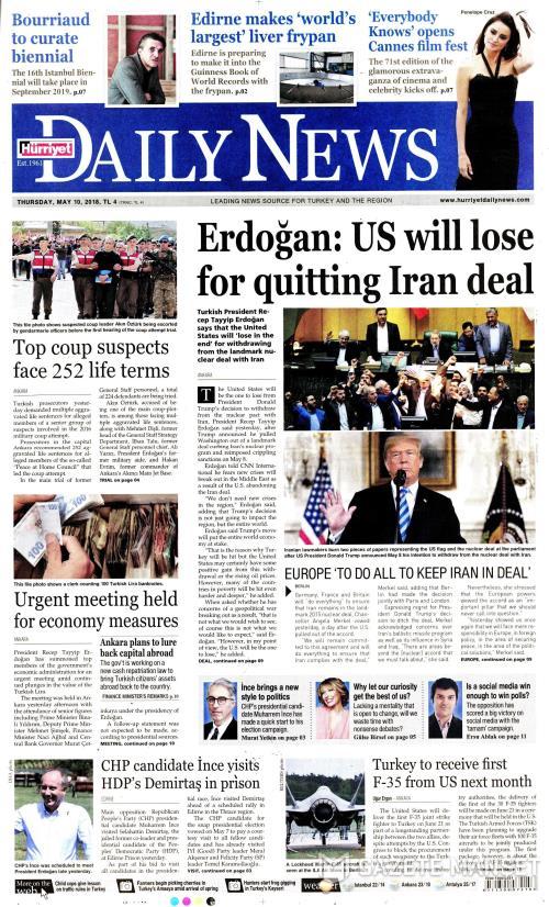 HÜRRİYET DAİLY NEWS - 10 Mayıs 2018