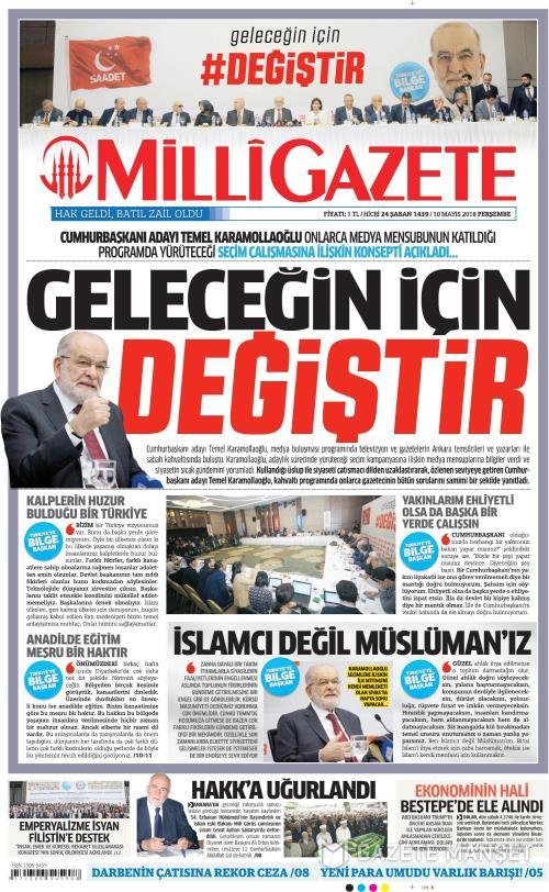 MİLLİ GAZETE - 10 Mayıs 2018