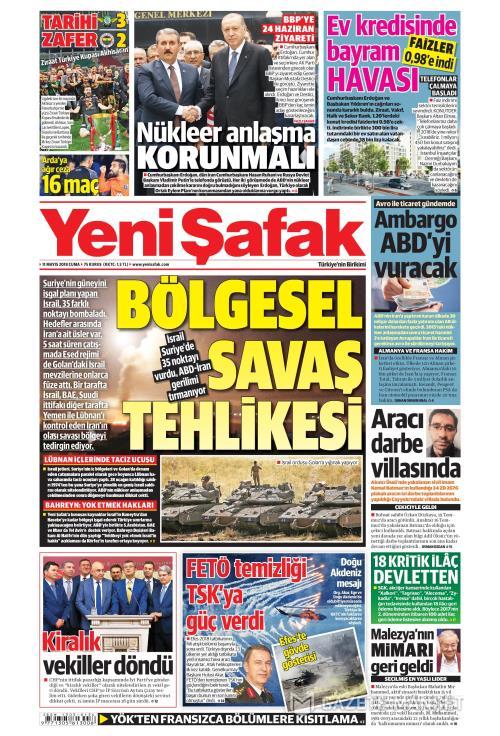 YENİ ŞAFAK - 11 Mayıs 2018