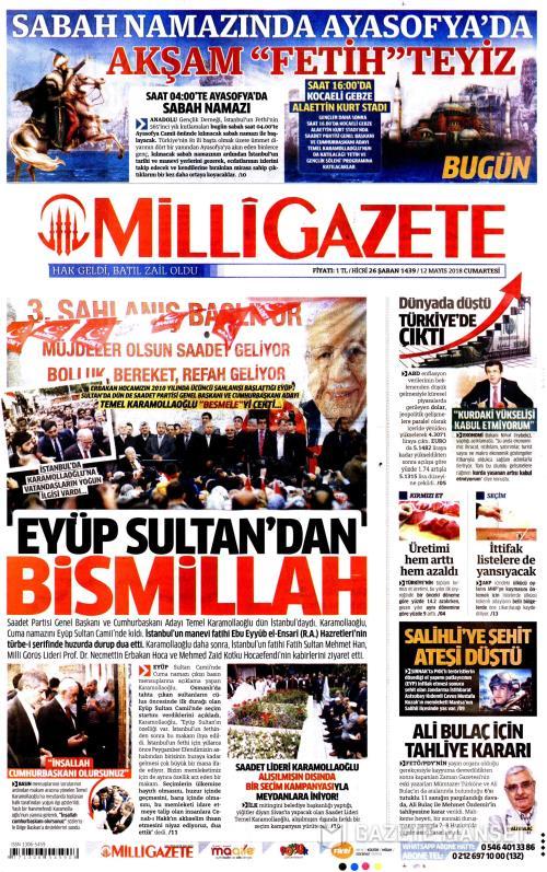 MİLLİ GAZETE - 12 Mayıs 2018