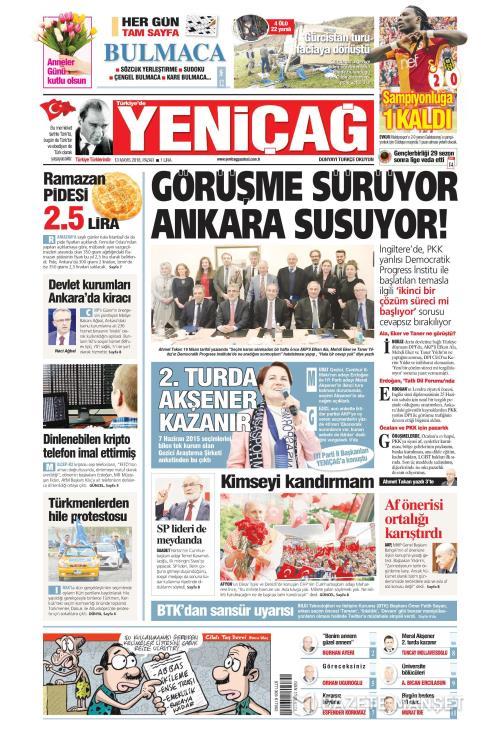 Türkiye'de Yeni Çağ - 13 Mayıs 2018