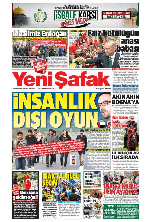 YENİ ŞAFAK - 14 Mayıs 2018