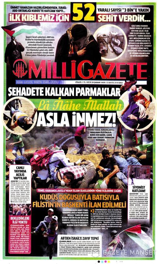 MİLLİ GAZETE - 15 Mayıs 2018