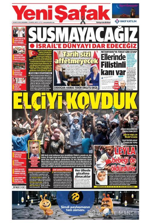 YENİ ŞAFAK - 16 Mayıs 2018