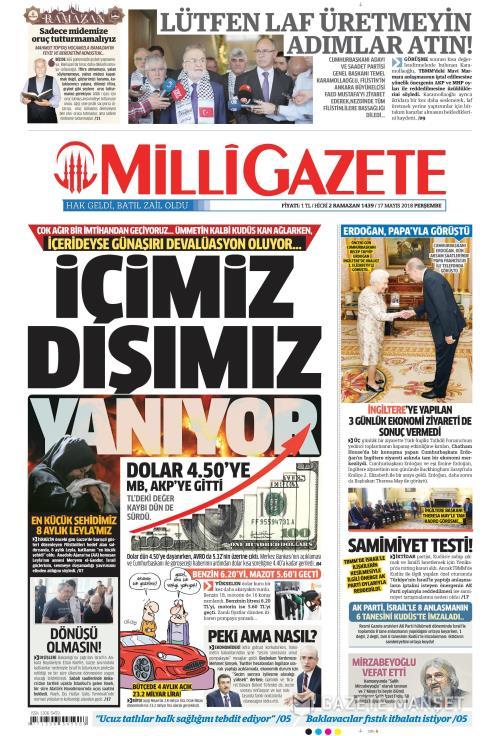 MİLLİ GAZETE - 17 Mayıs 2018
