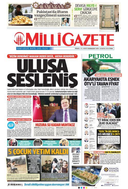 MİLLİ GAZETE - 18 Mayıs 2018