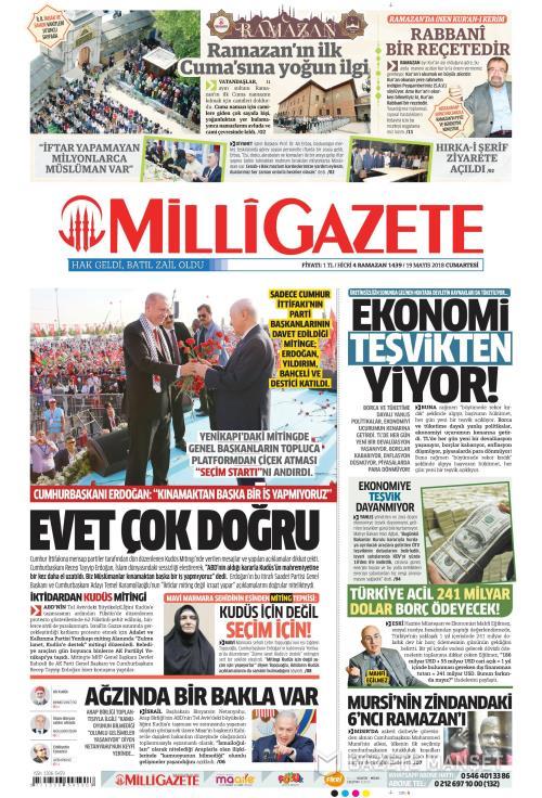 MİLLİ GAZETE - 19 Mayıs 2018