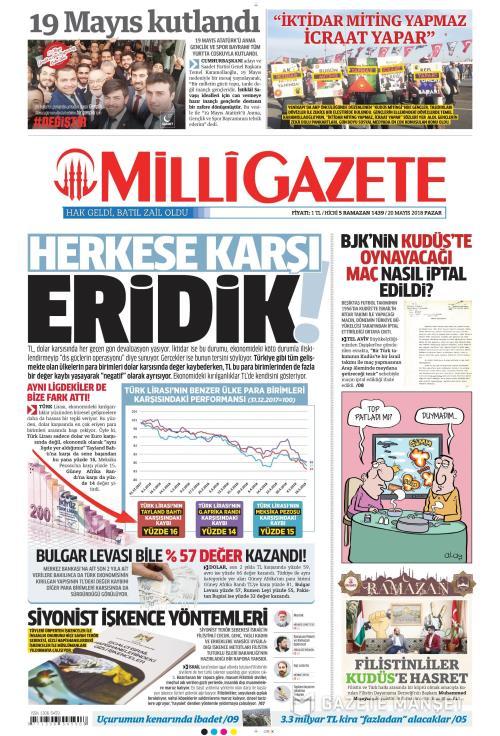 MİLLİ GAZETE - 20 Mayıs 2018