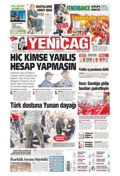 Türkiye'de Yeni Çağ - 21 Mayıs 2018