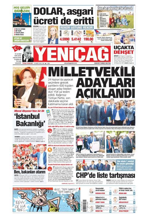Türkiye'de Yeni Çağ - 22 Mayıs 2018