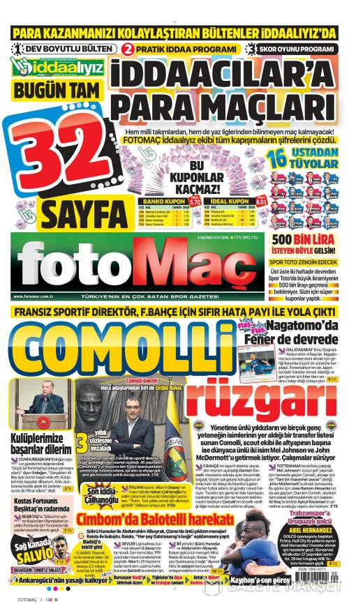 FOTOMAÇ - 08 Haziran 2018
