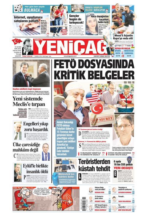 Türkiye'de Yeni Çağ - 01 Temmuz 2018