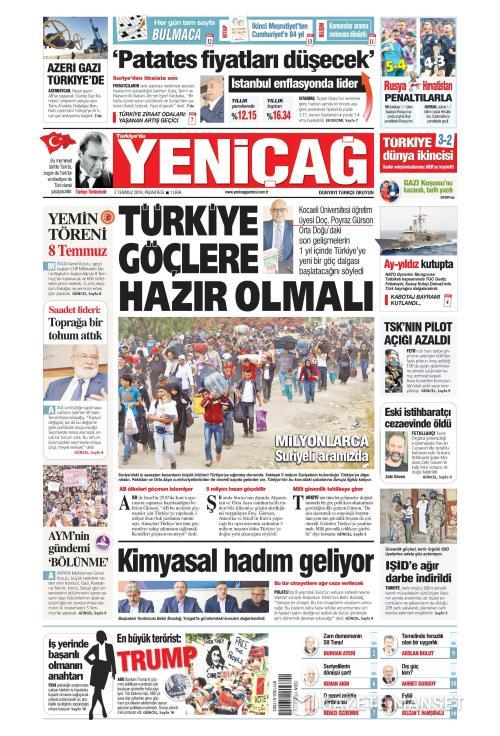 Türkiye'de Yeni Çağ - 02 Temmuz 2018