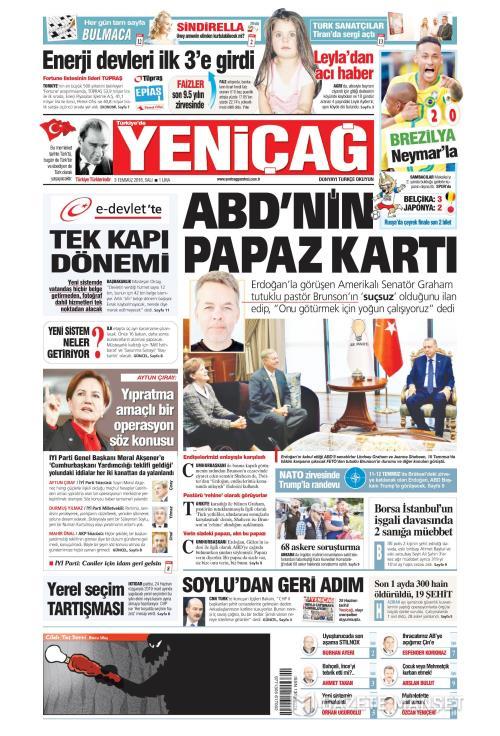 Türkiye'de Yeni Çağ - 03 Temmuz 2018
