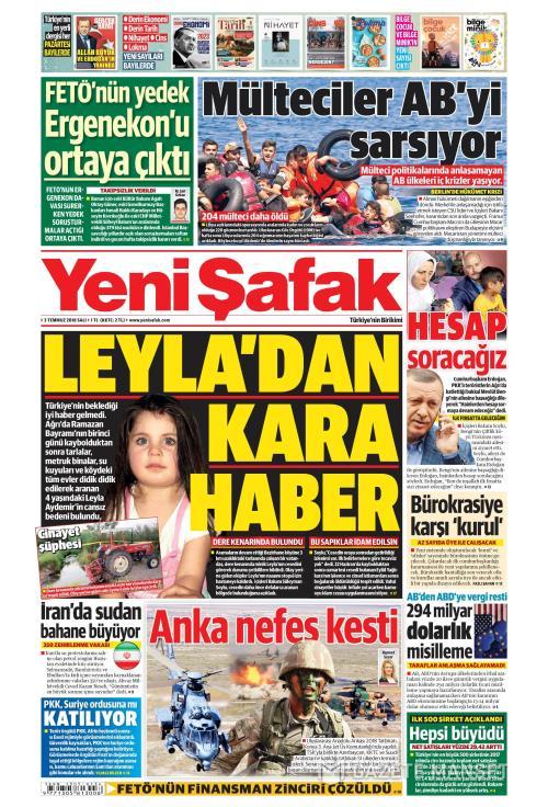 YENİ ŞAFAK - 03 Temmuz 2018