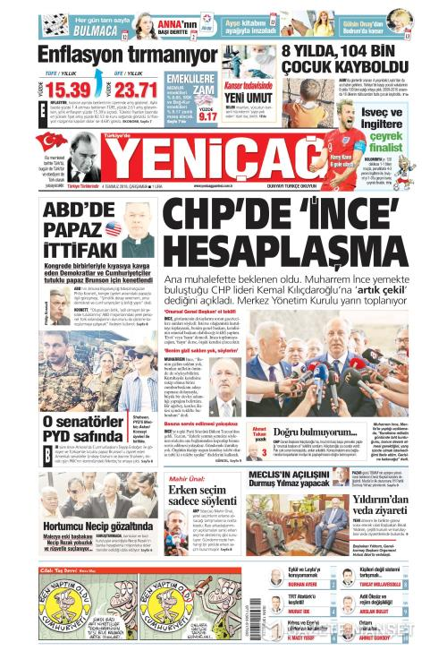 Türkiye'de Yeni Çağ - 04 Temmuz 2018