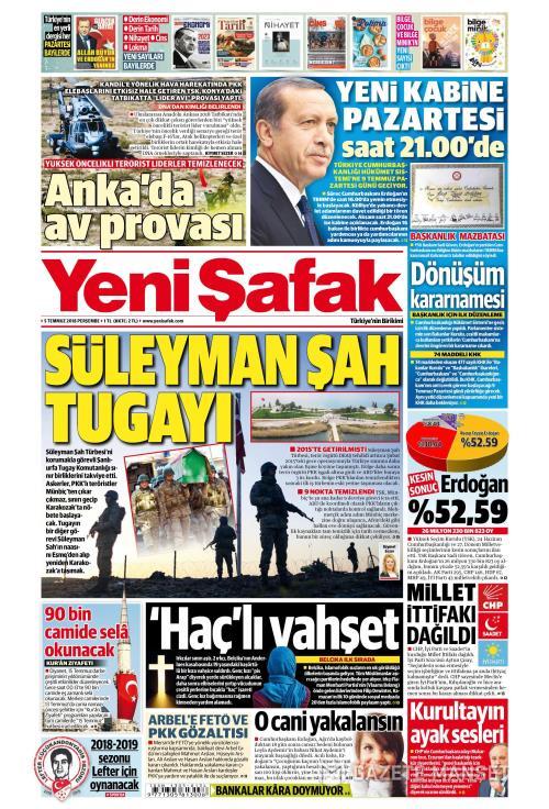 YENİ ŞAFAK - 05 Temmuz 2018