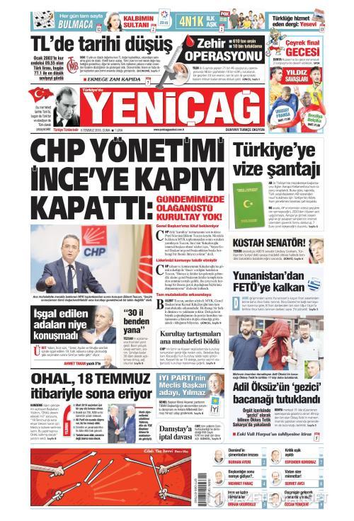 Türkiye'de Yeni Çağ - 06 Temmuz 2018