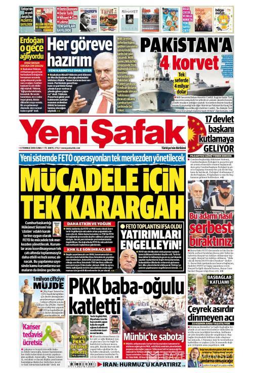 YENİ ŞAFAK - 06 Temmuz 2018