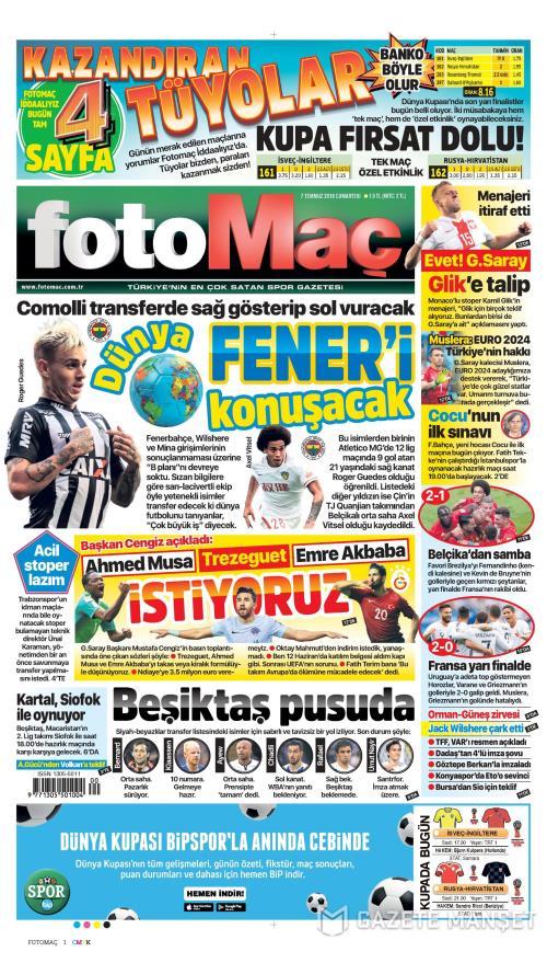 FOTOMAÇ - 07 Temmuz 2018