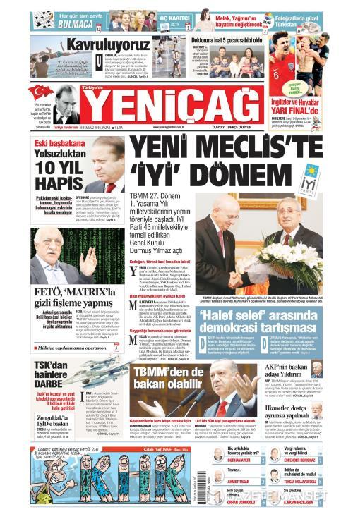 Türkiye'de Yeni Çağ - 08 Temmuz 2018