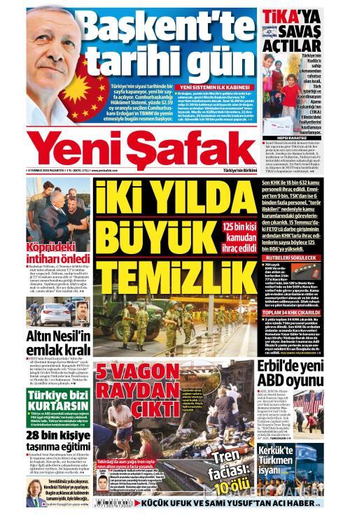 YENİ ŞAFAK - 09 Temmuz 2018