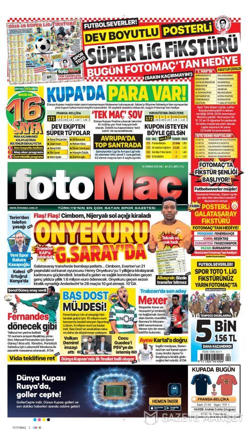 FOTOMAÇ - 10 Temmuz 2018