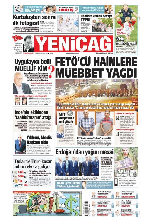 Türkiye'de Yeni Çağ - 13 Temmuz 2018